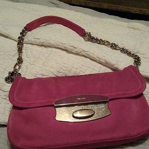 Prada pink suede mini-bag